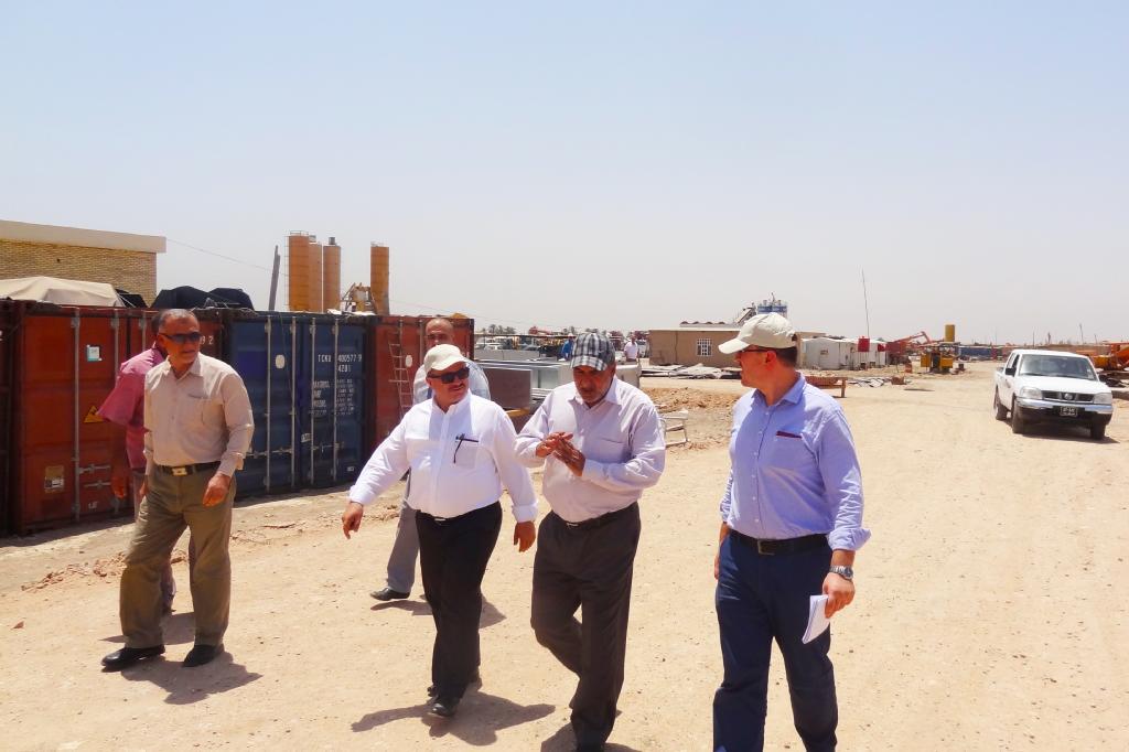 العراق - وزارة البلديات والأشغال العامة / الادارة العامة لمياه المجاري: منشأة تكرير النفاية المائية